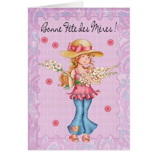 French Mother's Day Card, Bonne Fete Des Meres