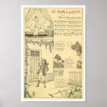 French music score song Au clair de la Lune Poster