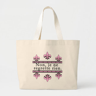 French No Regrets Products Jumbo Tote Bag