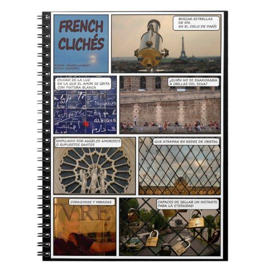 French notebook Cliches black bottom