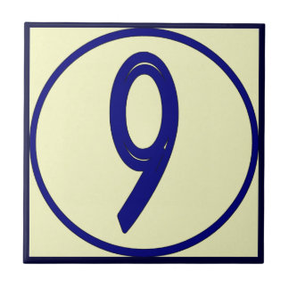 French Number Tile 6 or 9