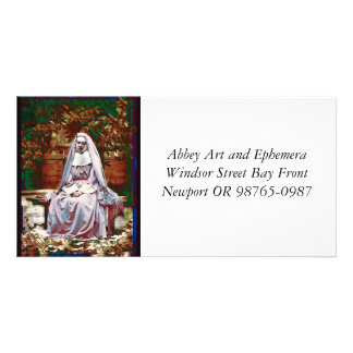 French Nun in the Garden of Contemplation Customised Photo Card