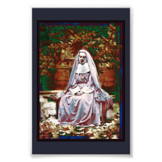 French Nun in the Garden of Contemplation Photo