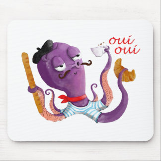 French Octopus Mouse Mat