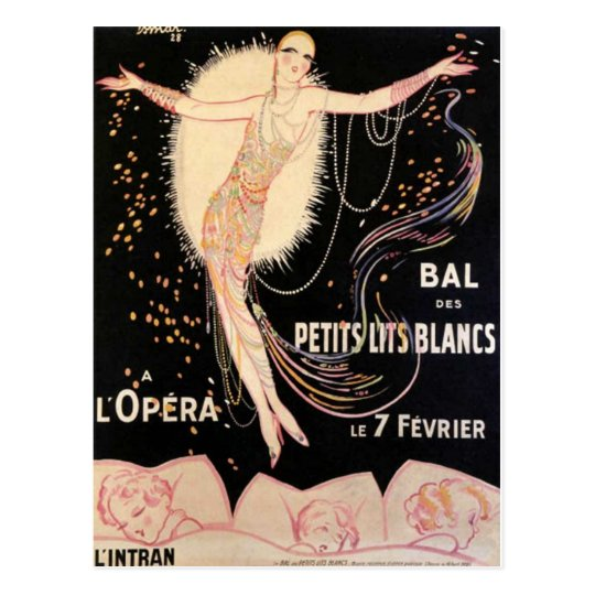 French Opera Poster Postcard