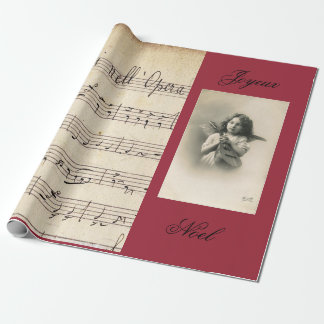 French Opera Sheet Music & Vintage Photo GIFT WRAP