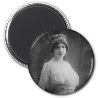 French Opera Singer Marguerite Beriza Portrait 6 Cm Round Magnet