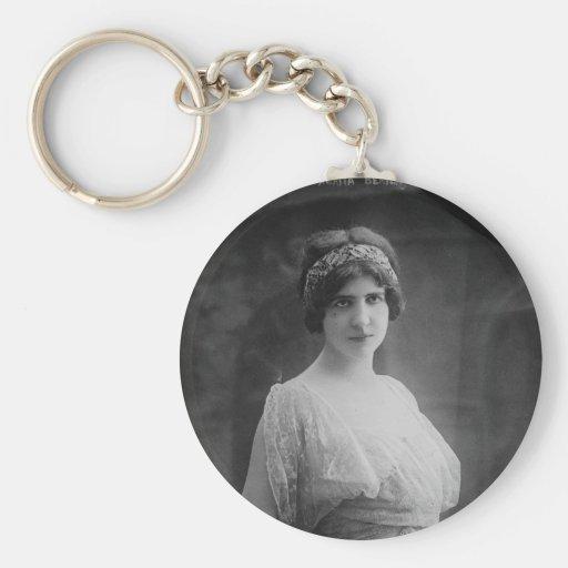 French Opera Singer Marguerite Beriza Portrait Key Chain