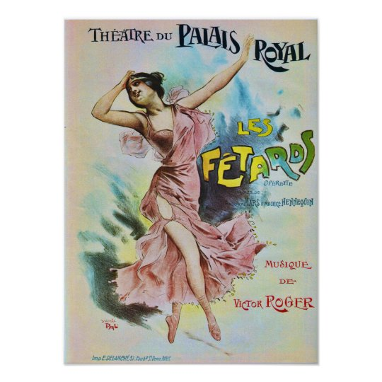 French Opera Vintage Advertisement Poster
