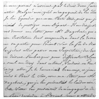 French Paris Script Napkin