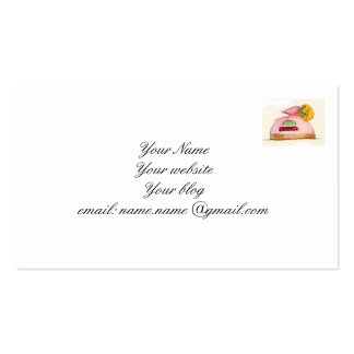 French pastry business card