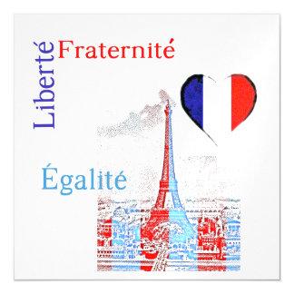 French patriotic magnetic invitations