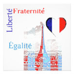 French patriotic personalised announcements