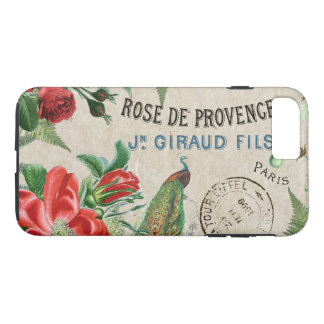 French Peacock Rose Flowers Paris iPhone 7 Case
