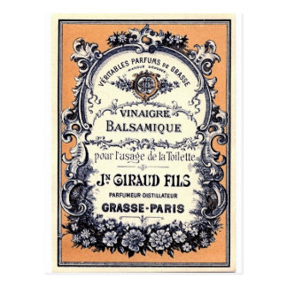 French Perfume Advertisement Postcard