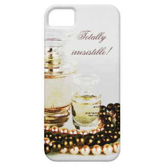 French perfume bottles and pearl necklace case for the iPhone 5