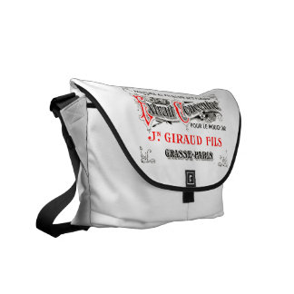 French perfume label commuter bags