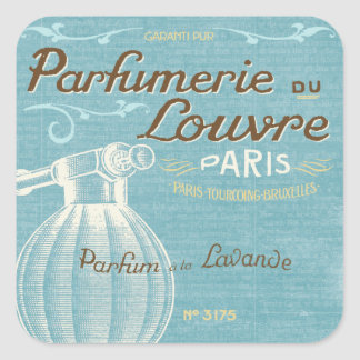 French Perfume Square Sticker