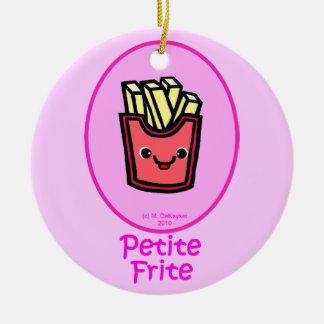 French - Pink Small Fry - French Fries Christmas Ornament