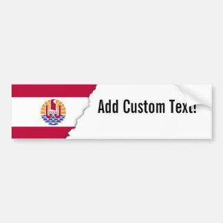 French Polenysia flag Bumper Sticker