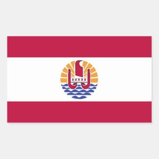 French Polenysia flag Rectangular Sticker