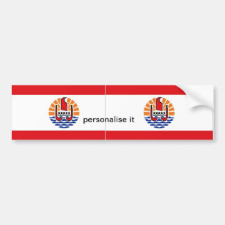 French Polynesia flag bumper sticker