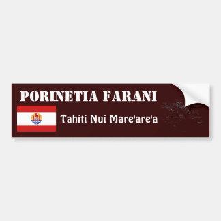 French Polynesia Flag + Map Bumper Sticker