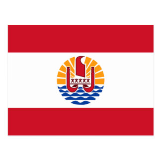 French Polynesia Flag PF Postcard