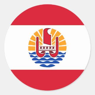 French Polynesia, flag Round Sticker
