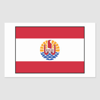 French Polynesia Flag Rectangle Sticker