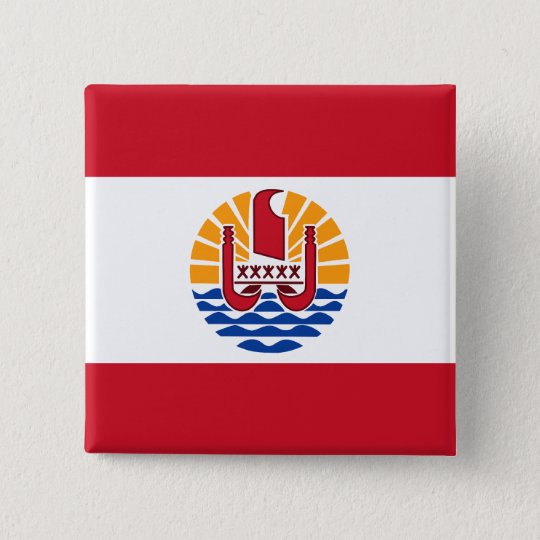 French Polynesia, France 15 Cm Square Badge