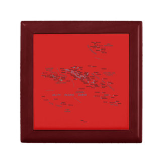 French Polynesia Map Gift Box