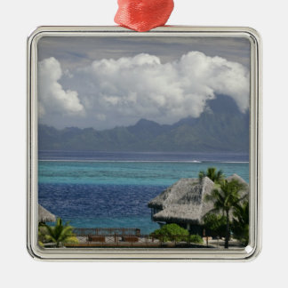French Polynesia, Moorea. A view of the island Christmas Ornament