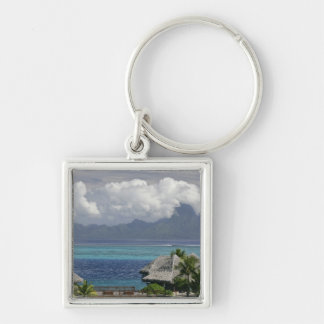 French Polynesia, Moorea. A view of the island Key Ring