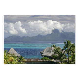 French Polynesia, Moorea. A view of the island Photographic Print