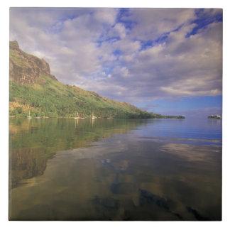 French Polynesia, Moorea. Cooks Bay. Cruise ship 2 Tiles