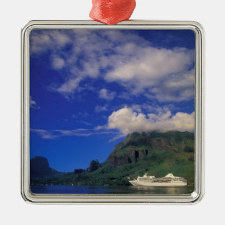 French Polynesia, Moorea. Cooks Bay. Cruise ship 3 Christmas Ornament