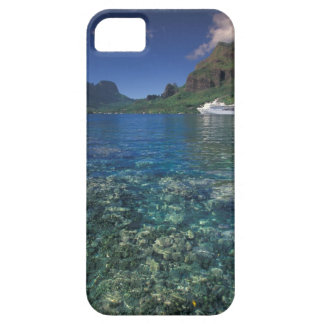 French Polynesia, Moorea. Cooks Bay. Cruise ship iPhone 5 Cases