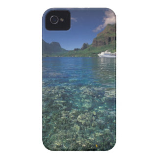 French Polynesia, Moorea. Cooks Bay. Cruise ship iPhone 4 Cover