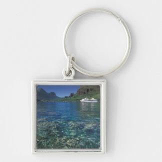 French Polynesia, Moorea. Cooks Bay. Cruise ship Key Ring