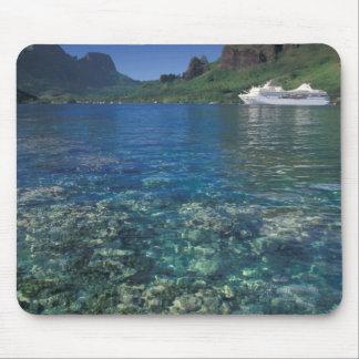 French Polynesia, Moorea. Cooks Bay. Cruise ship Mouse Mat