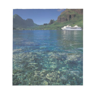 French Polynesia, Moorea. Cooks Bay. Cruise ship Notepad