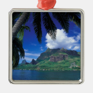 French Polynesia, Moorea. Cooks Bay. Green Christmas Ornament