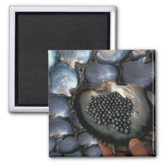 French Polynesia, Moorea Tiki Polynesian Square Magnet