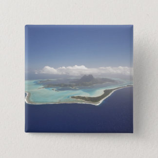 French Polynesia, Tahiti, Bora Bora. The 15 Cm Square Badge