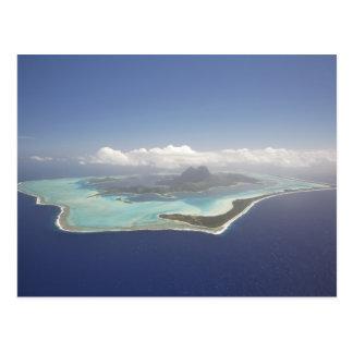 French Polynesia, Tahiti, Bora Bora. The Postcard