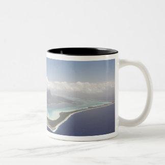 French Polynesia, Tahiti, Bora Bora. The Two-Tone Coffee Mug