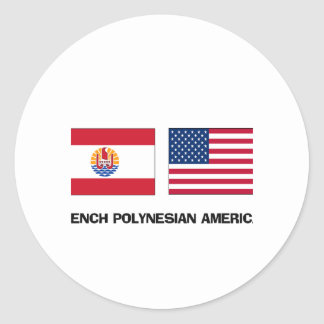 French Polynesian American Stickers