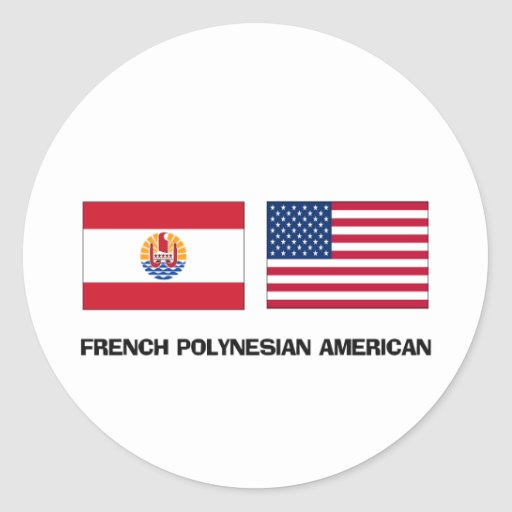 French Polynesian American Sticker