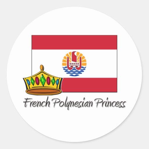 French Polynesian Princess Sticker